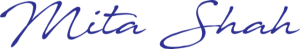 Mita's signature in blue