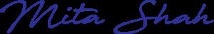 Mita's signature in blue