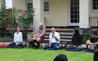 Awakin Circle Harrow, with Nipun Mehta and Gandhi's Grandson!